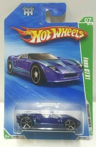 2010 Hot Wheels Treasure Hunt Ford GTX1 Blue 51