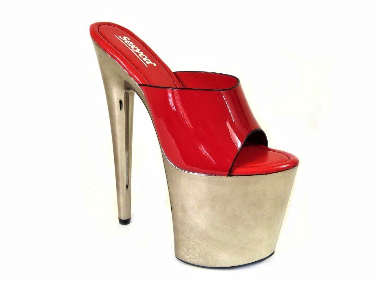 8 inch High Stiletto Heel Dancing Fetish Kinky Sexy Platform Dancing Heel Mule Sandales Schuhes 0b6138
