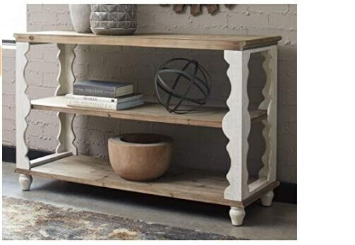 Stupendous White Brown Country Farmhouse Sofa Table Console Rustic Display Shabby Chic New Beatyapartments Chair Design Images Beatyapartmentscom