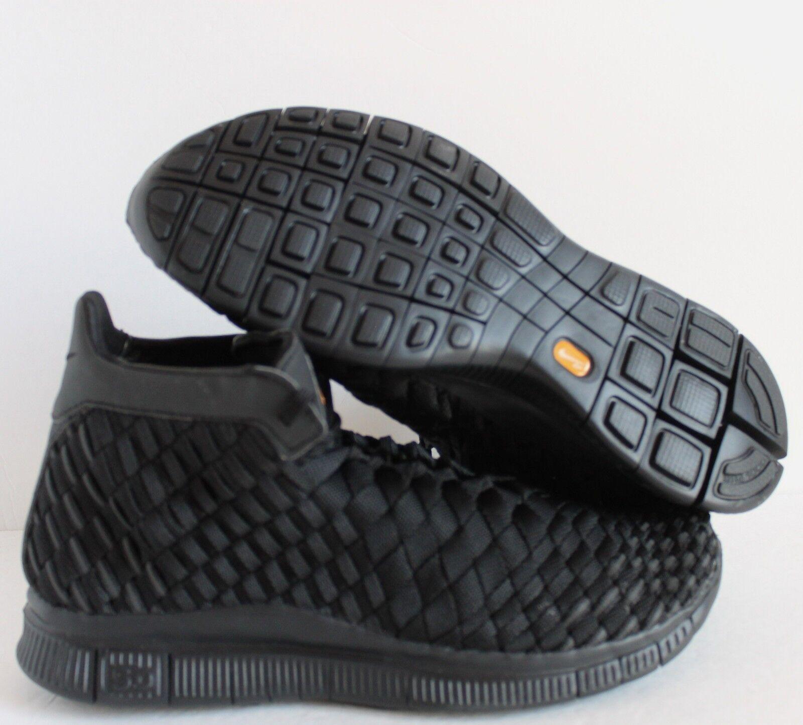 new styles 1be3d 0a80e NIKE FREE FREE FREE INNEVA WOVEN WVN MID SP ALL BLACK SZ 8  800907-