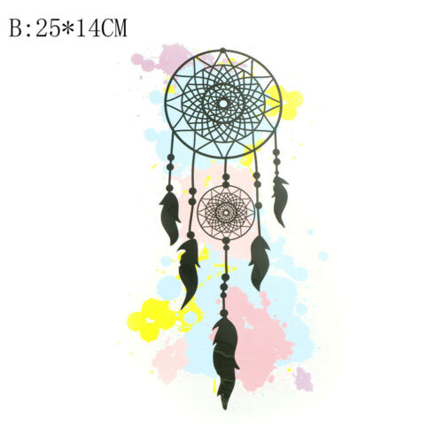 Feather dream catcher Iron on Stickers Washable Heat Transfer Patches AppliqueYJ
