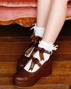 LIZ-LISA-Double-Ribbon-Shoes-japan-lolita-sweet-kawaii
