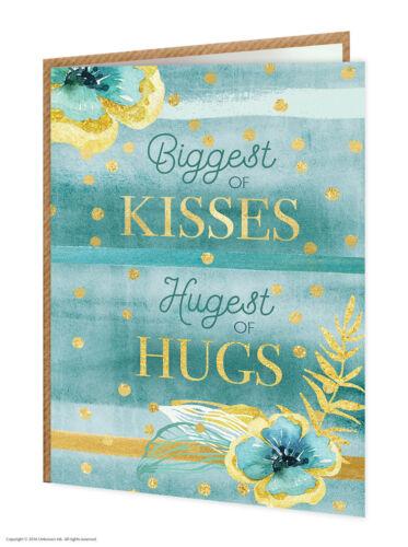 """Super bonbon unique pretty gold /""""voyou de hugs/'s anniversaire carte de vœux floral"""