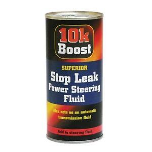 power steering fluid stop leak sealer fix by 10k boost also prevents squeals new ebay. Black Bedroom Furniture Sets. Home Design Ideas