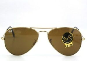 7f9c8deb45 ITALY RAY BAN gold Aviator SUNGLASSES RB 3025 001 33 55mm Authentic ...