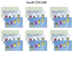Ski-Winter-Luggage-Bag-Travel-Tag-All-Weather-Lot-of6-Flip-Lenticular-LT04-209