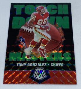 2020 Panini Green Prizm Mosaic Tony Gonzalez Touchdown Masters #TM15 KC Chiefs