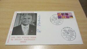 Rudolf Nebel originalsignierte Erinnerungskarte
