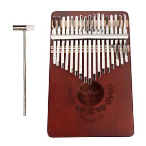 17-Key-Kalimba-Thumb-Piano-Mahagoni-Mbira-fuer-Anfaenger-oder-Profis