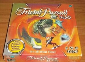 TRIVIAL-PURSUIT-FOR-KIDS-Parker-Board-Game-2001-Checked-Complete-VG-Condition