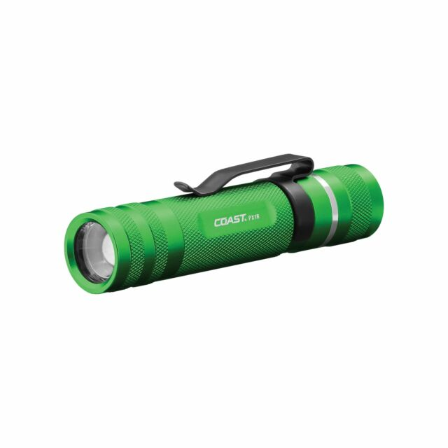 Coast 21515 A8R Rechargeable LED Flashlight Green