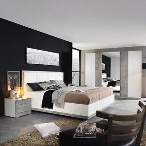 Schlafzimmer Set Siegen Schwebeturenschrank Bett Nako In Weiss Und