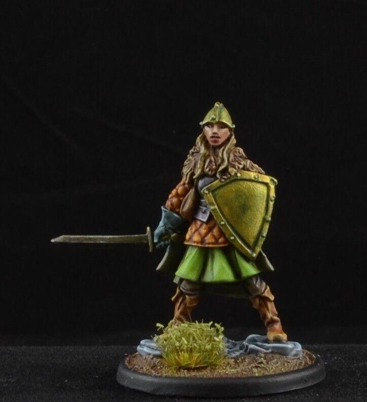 Conector hembra Pintado guerrero con espada y un escudo Dark Sword Miniatures, D&D