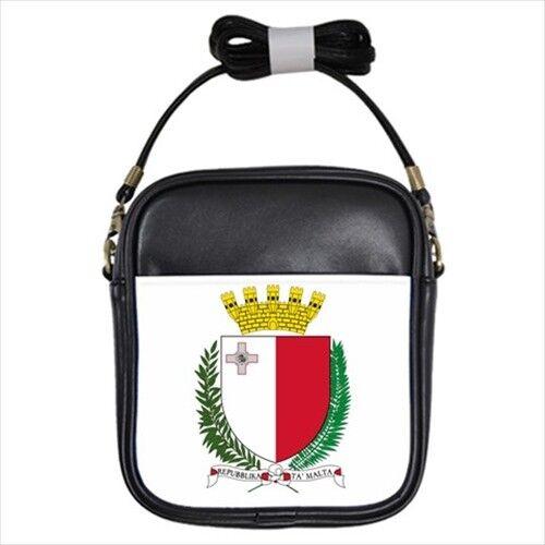 Crossbody Shoulder Malta Coat of Arms Leather Sling Bag Tabard Surcoat