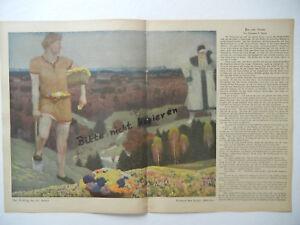 b145 Methodisch Original Blatt Aus Der Zeitschrift Jugend 1909 Henry Bing Eichler Nachfrage üBer Dem Angebot