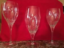 Assorted Lenox crystal stemware (7 red, 7 white, and 8 water) storage case too!
