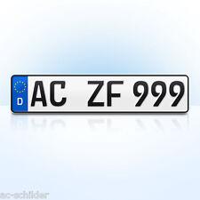1 Stk KFZ Kennzeichen | Nummernschild | für Ihren PKW, Anhänger, Fahrradträger