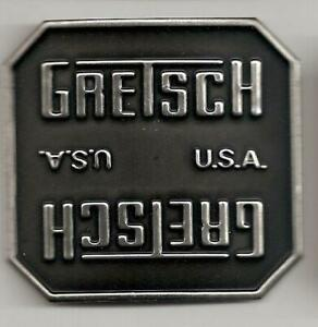 Gretsch-USA-Black-Burst-Broadkaster-Drum-Badge-No-Hole-Snare-Tom-Bass-NOS