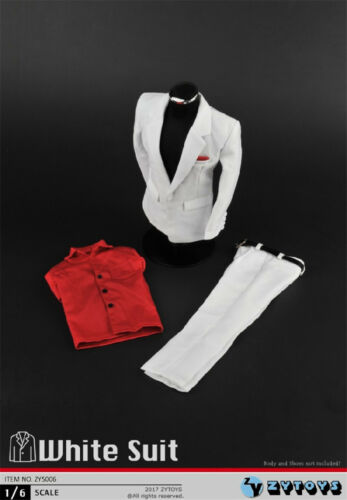 HOT FIGURE TOYS ZYTOYS ZY5006 1//6 Men/'s white suit formal clothes