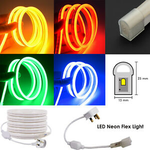 220V-LED-Neon-Flex-Rope-Strip-Light-Sign-Outdoor-Waterproof-15-x-25mm-Lights