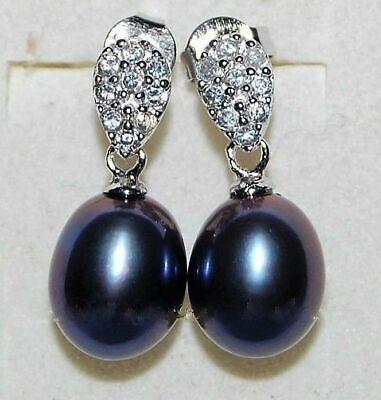 Damen Ohrringe Ohrstecker 925 Sterling Silber Süßwasser Perlen Aaa Rhodiniert üPpiges Design