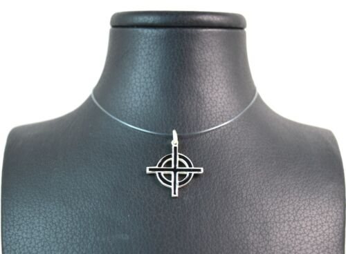 Croce celtica ciondolo smaltato in argento 925 realizzato a mano Made in Italy