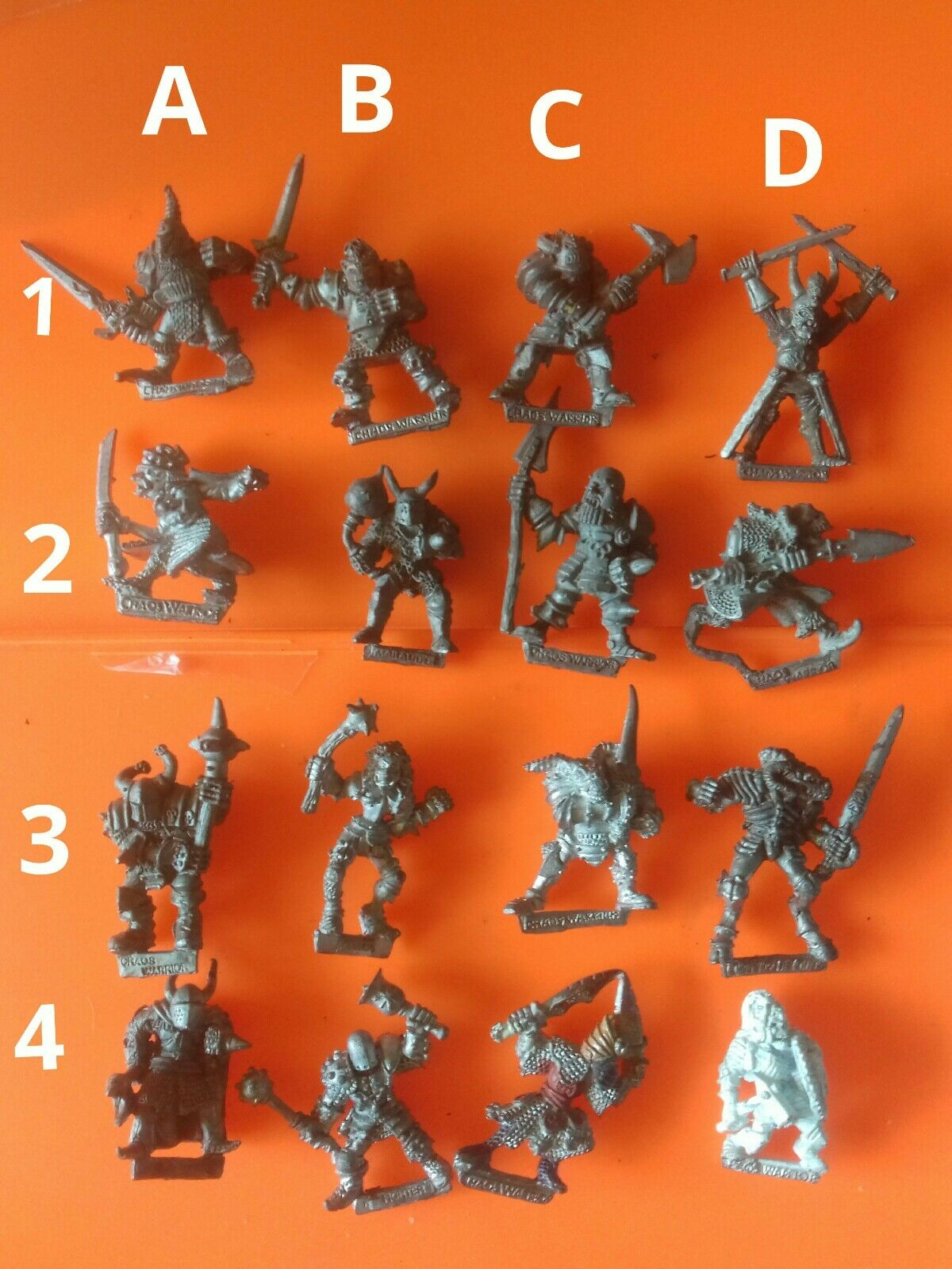 CH2 CH3 C35 Warrior knights Citadel GW Games Workshop socle champions