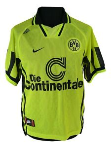 Borussia-Dortmund-Jersey-1996-1997-Size-M-BVB-Continental-Nike-CC84