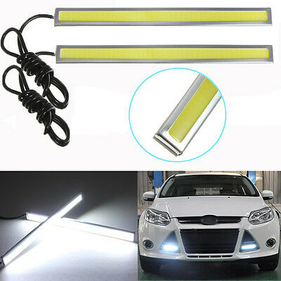 2x 17CM 12W LED COB DRL Driving Daytime Running Light Bulb Lamp White Waterproof
