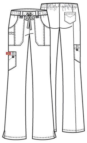 Dickies Scrubs Xtreme Stretch Cargo Scrub Pants 82011 Wine Junior Fit