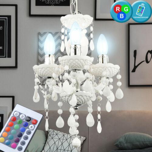 RGB LED Kristall Kronleuchter Luster Fernbedienung Decken Hänge Lampe dimmbar