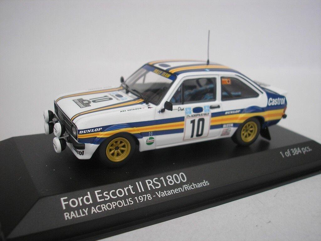 FORD ESCORT II RS 1800 RALLY ACROPOLIS 1978 VATANEN 1 43 MINICHAMPS NEU