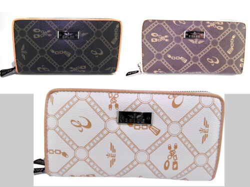 Geldbörse Damen Portmonee Geldtasche Frau Elegant Reißverschluss Handtasche Edel