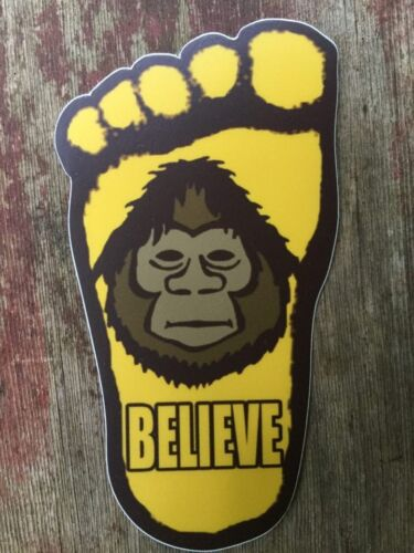 Believe.. Patty/'s footprint shaped Decal//Sticker Large