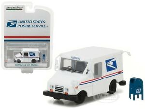 USPS-POSTAL-SERVICE-LLV-MAIL-DELIVERY-VEHICLE-amp-MAILBOX-1-64-GREENLIGHT-29888