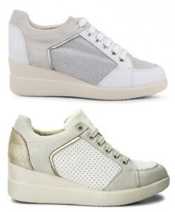 GEOX-STARDUST-D8230B-scarpe-donna-sneakers-pelle-camoscio-tessuto-casual-zeppa