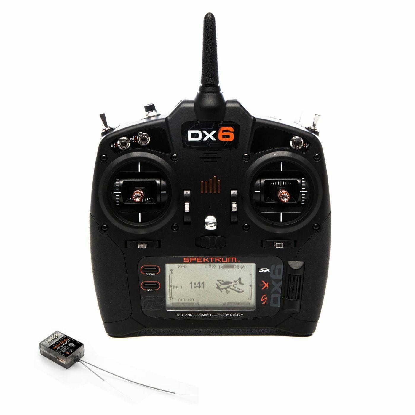 Spektrum DX6 6-Channel DSMX Transmitter Gen 3  with AR6600T Receiver SPM6755  forma unica