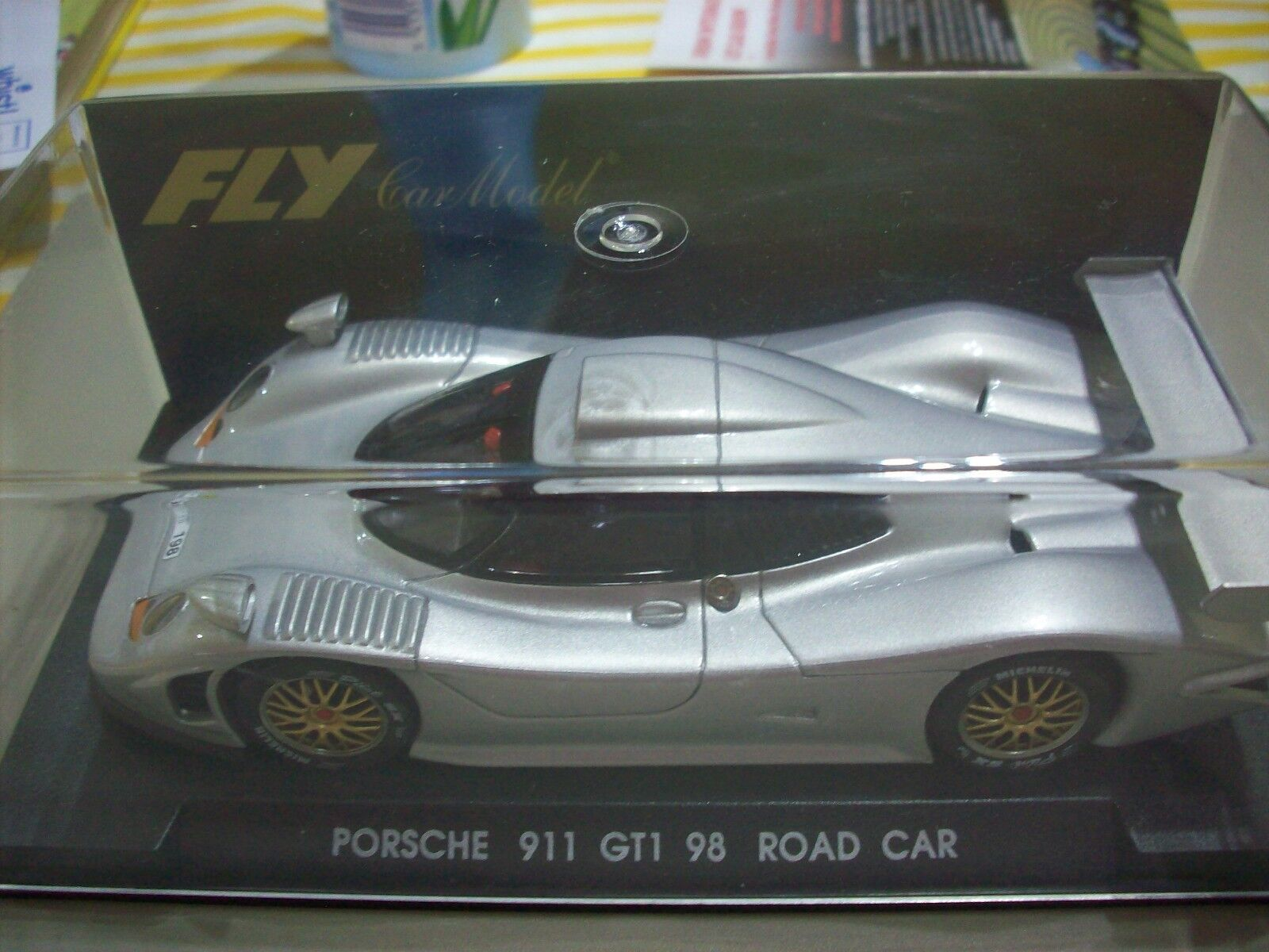 Fly Scalextric Rare E71 Porsche GT1 98 Road Car Mini Auto NMIB