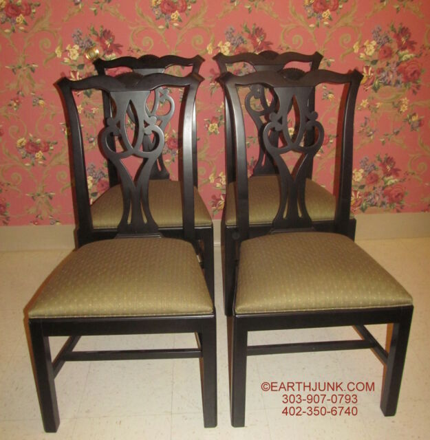 Ethan Allen Chippendale Side Chairs 31 6221 Antique Black Collector S Clics