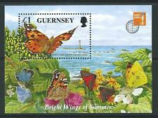 Guernsey 1997 mariposas y polillas desmontado como nuevos. estampillada sin montar o nunca montada