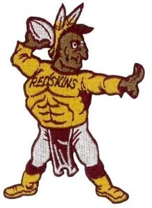 Washington-Redskins-Vintage-Embroidered-Iron-On-Patch-Old-Stock-3-5-034-x-2-5-034