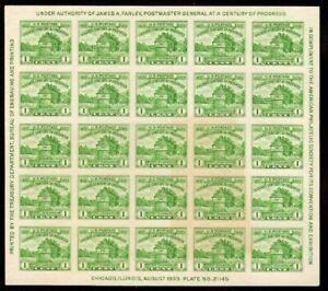 730 Farley APS issue Souvenir Sheet, Mint, NGAI, FREE SHIPPING (scv$20.00)