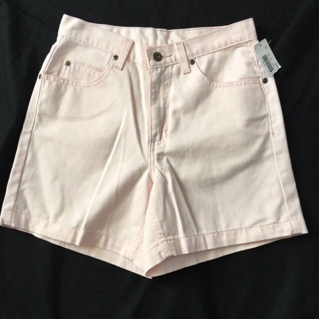 Liz Claiborne Classic Fit Shorts Woman's 8 Petite 8P NWT Pink Denim