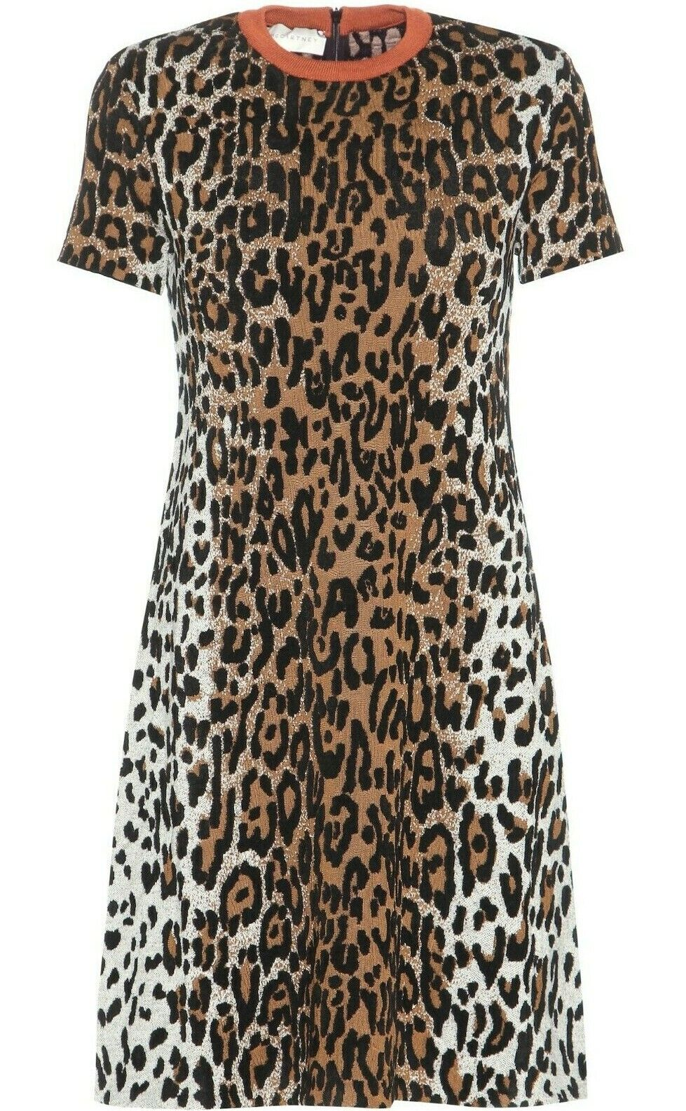 STELLA MCCARTNEY LEOPARD PRINT SHIFT DRESS IT 40