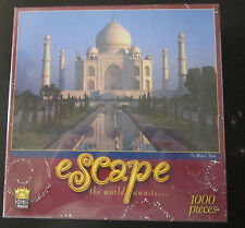 Escape The World Awaits Taj Mahal India 1000 Piece Puzzle #01006 NEW