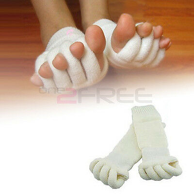 2pcs Foot Toe Alignment Sock Separators Straighteners Bunion Aching Pain Relief