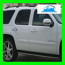 2007-2014 CHEVY TAHOE SUBURBAN CHROME RUNNING BOARD MOLDING TRIM 2 PIECES