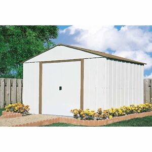 10 x 10 storage shed outdoor backyard metal storage garage for Garden shed 10x10
