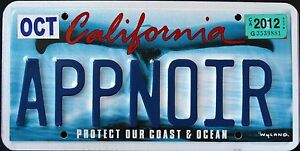 CALIFORNIA-034-WILDLIFE-WHALE-COAST-DISCONTINUED-CA-Specialty-License-Plate