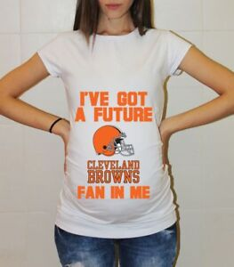 best sneakers 219b1 8588b Details about Cleveland Browns Baby Football Maternity Shirt Baby Shower  Pregnancy Shirts